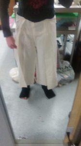 First draft of Yeesha's wrap-around pants